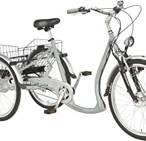 """Wild Eagle Tricycle 26/24"""" Electrique Made in Germany Argent"""