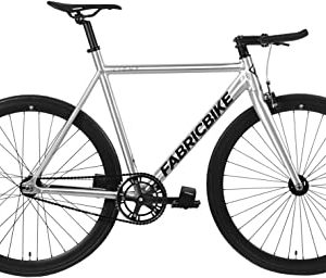 """FabricBike Light - Vélo Fixie- Fixed Gear- Single Speed- Cadre + Fourche Aluminium- Roues 28""""- 3 Tailles- 4 Couleurs- 9-45 kg (Taille M)"""